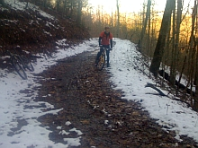 Snowy ride at Tsali